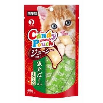 ペットライン 株式会社 ■キャネット キャンディーパウチ ジューシー仕立て 魚介だし風味 まぐろ入り 48g