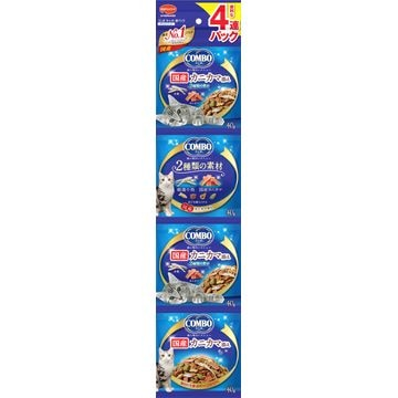 日本ペットフード 株式会社 ■コンボ キャット 連パック 海の味わいメニュー カニカマ添え 160g(40g×4連)
