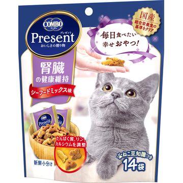 日本ペットフード 株式会社 ■コンボ プレゼント キャット おやつ 腎臓の健康維持 シーフードミックス味 42g