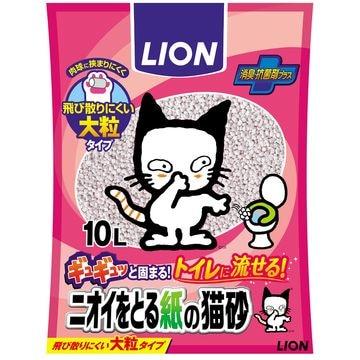 ライオン商事 株式会社 ■ニオイをとる紙の猫砂 10L