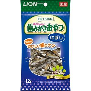ライオン商事 株式会社 ■PETKISS 猫ちゃんの歯みがきおやつ にぼし 12g