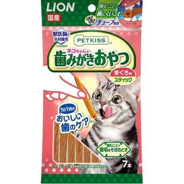 ライオン商事 株式会社 ■PETKISS 猫ちゃんの歯みがきおやつ まぐろ味 スティック 7本