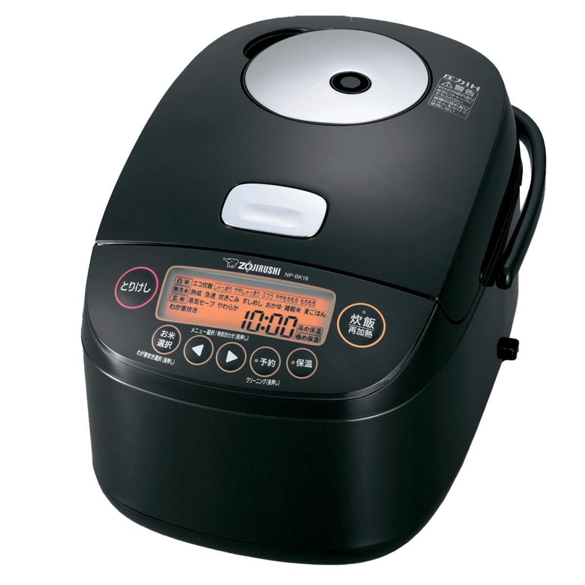 象印マホービン 圧力IH炊飯器 極め炊き 1升炊き ブラック NP-BK18-BA