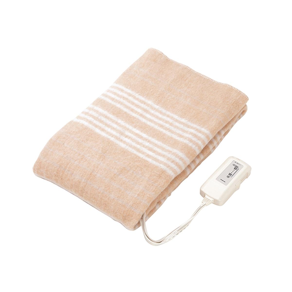 コイズミ 電気敷毛布 電磁波カット 約140×80cm KDS-50216D