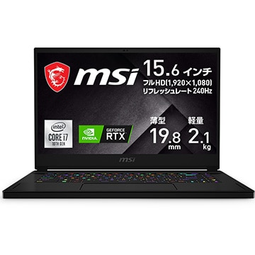 ゲーミングノートPC GS66 Stealth 10U 15.6インチ Corei7 16GB SSD1TB NVIDIA GeForce RTX 3080 Laptop GPU