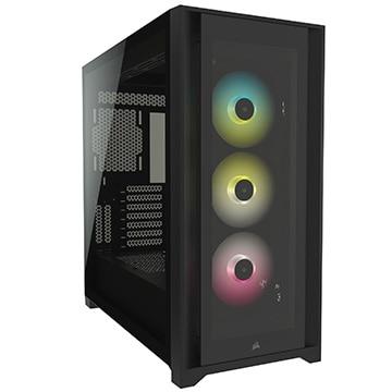 Corsair ミドルタワー型PCケース iCUE 5000X RGB Tempered Glass Black CC-9011212-WW