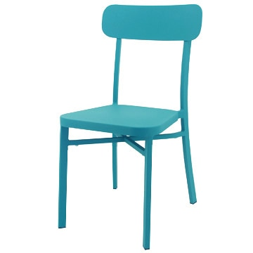 関家具 『COMFY Piccolo chair』 屋外対応スタッキングチェア DCピッコロ BLGN(ブルーグリーン) 2脚1セット 247490