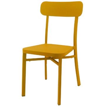 関家具 『COMFY Piccolo chair』 屋外対応スタッキングチェア DCピッコロ OR(オレンジ) 2脚1セット 247491