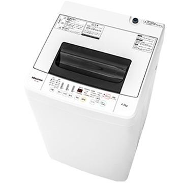 Hisense 全自動洗濯機 4.5kg ホワイト 【配送のみ設置なし 軒先渡し】 HW-T45C