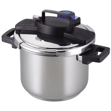 パール金属 3層底ワンタッチレバー圧力鍋5.5L H-5389