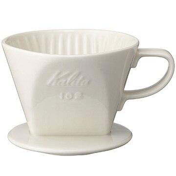 Kalita 陶器製コーヒードリッパー 102-ロト ホワイト 02001
