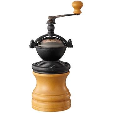 Kalita 手挽きコーヒーミル ラウンドスリムミル ナチュラル 42118