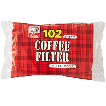 Kalita コーヒーフィルター NK102濾紙 (2~4人用) 100枚入り ホワイト 13123