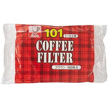 Kalita コーヒーフィルター NK101濾紙 (1~2人用) 100枚入り ブラウン 11107