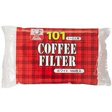 Kalita コーヒーフィルター NK101濾紙 (1~2人用) 100枚入り ホワイト 11105
