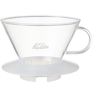 Kalita ウェーブシリーズ ガラスドリッパー WDG-185 (2~4人用) クリア 05112