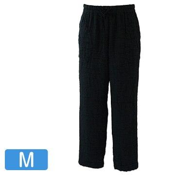 UCHINO マシュマロワッフルガーゼ メンズ パンツ M ブラック RBF90358M-Bk