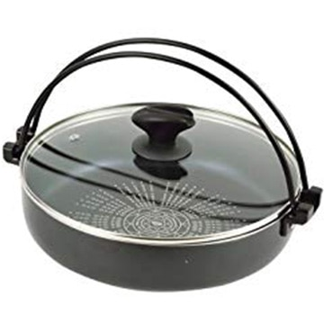 パール金属 NEW贅の極み ブルーダイヤモンドコートIH対応ガラス蓋付すきやき鍋26cm HB-3257