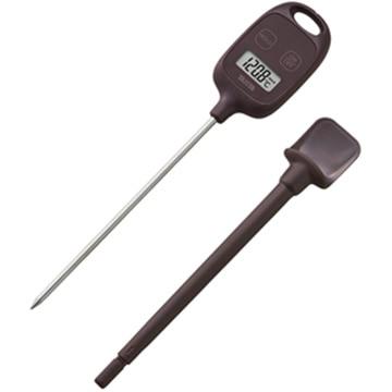タニタ デジタル 料理用温度計 ブラウン TT583BR