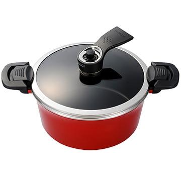 京セラ セラブリッド調理なべ しみこみシェフ 直径24cm レッド 減圧調理 オール熱源対応 CND-24-BRD
