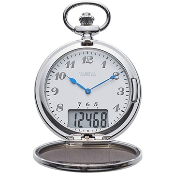 タニタ 懐中時計型歩数計 シルバー FB-743SV