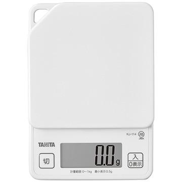 タニタ デジタルクッキングスケール ホワイト KJ-114-WH