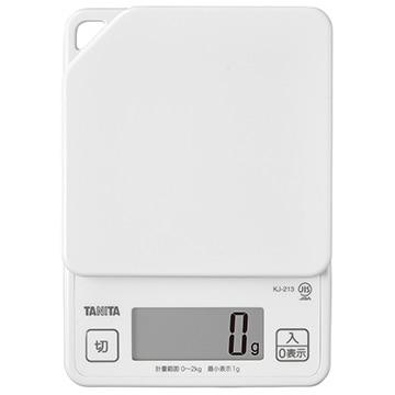 タニタ デジタルクッキングスケール ホワイト KJ-213-WH