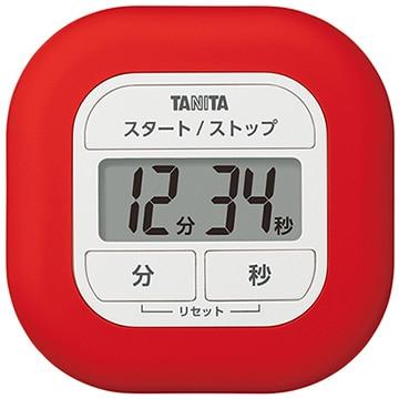 タニタ くるっとシリコーンタイマー レッド TD-420-RD
