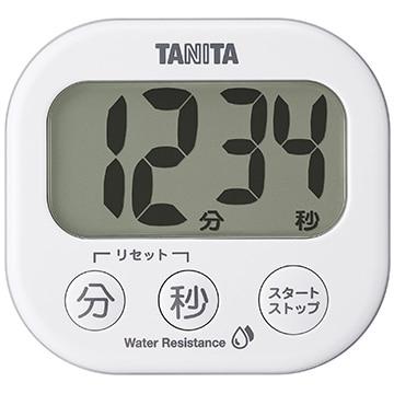 タニタ 洗える「でか見え」タイマー ホワイト TD426WH
