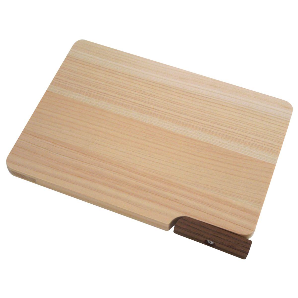 ダイワ産業 まな板スタンド付き 食洗機対応 木製 ひのき 軽量 日本製 防カビ 21cm KM-SS21