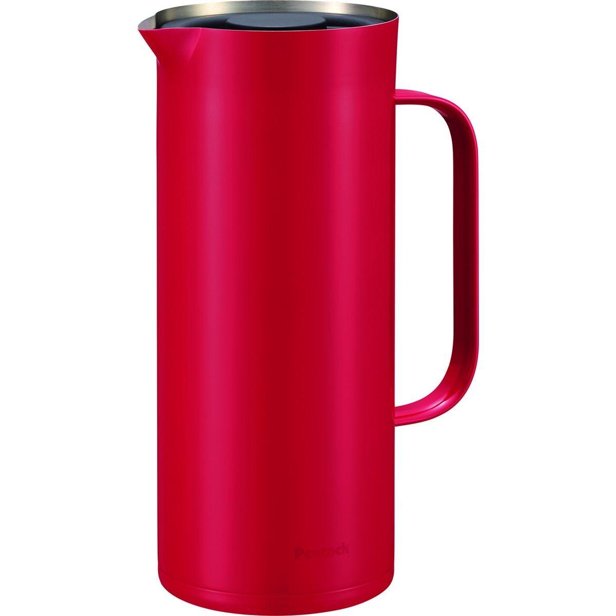 ピーコック魔法瓶 1L 保冷保温丸洗い可リビングポット レッド AHW-100-R