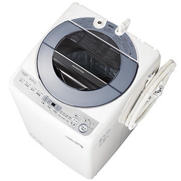 SHARP たて型洗濯乾燥機(洗濯8kg) ホワイト系【大型商品(設置工事可)】 ES-GV8D-S