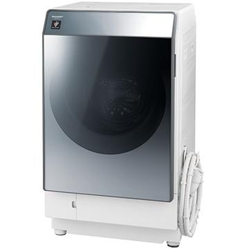 SHARP ドラム式洗濯乾燥機 シルバー系 左開き【大型商品(設置工事可)】 ES-W112-SL