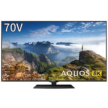 SHARP 8KAQUOSBW1ライン70V型8K液晶TV4KBS/CSチューナー内蔵【大型商品(設置工事可)】 8T-C70BW1