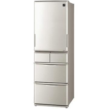 シャープ プラズマクラスター 5ドア冷蔵庫 どっちもドア 412L シルバー系【大型商品(設置工事可)】 SJ-W412E-S
