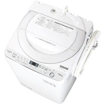 SHARP 全自動洗濯機 ホワイト系【大型商品(設置工事可)】 ES-GE7D-W