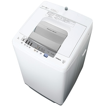 日立 全自動洗濯機(7kg) シャワー浸透洗浄 白い約束【大型商品(設置工事可)】 NW-R705-W