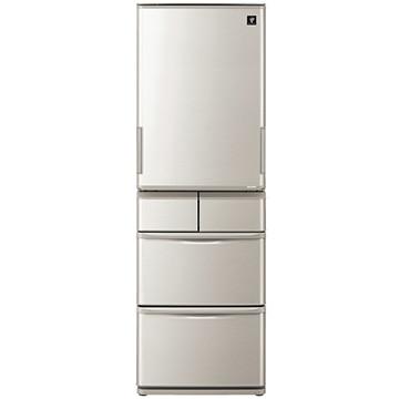 SHARP プラズマクラスター 5ドア冷蔵庫 どっちもドア 412L シルバー系【大型商品(設置工事可)】 SJ-W412F-S