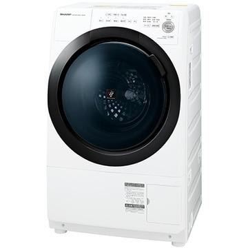 SHARP ドラム式洗濯乾燥機 ホワイト系 左開き【大型商品(設置工事可)】 ES-S7E-WL