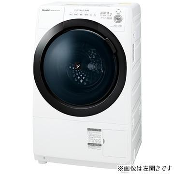 SHARP ドラム式洗濯乾燥機 ホワイト系 右開き【大型商品(設置工事可)】 ES-S7E-WR