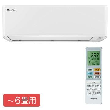 Hisense ルームエアコン Sシリーズ おもに6畳用【大型商品(設置工事可)】 HA-S22C-W