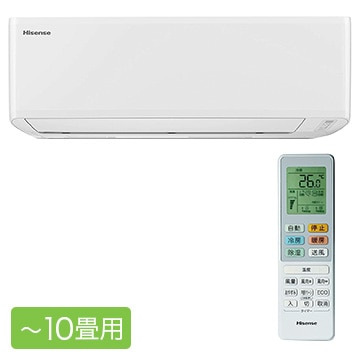 Hisense ルームエアコン Sシリーズ おもに10畳用【大型商品(設置工事可)】 HA-S28C-W