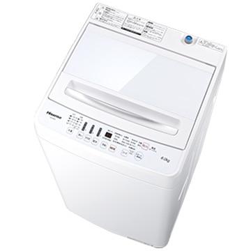 Hisense 全自動洗濯機 6.5kg ホワイト【大型商品(設置工事可)】 HW-G60A