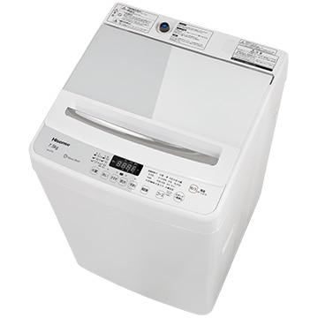 Hisense 全自動洗濯機 7.5kg ホワイト【大型商品(設置工事可)】 HW-G75A