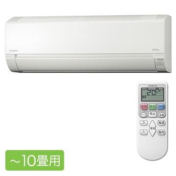 日立 白くまくん AJシリーズ ルームエアコン おもに10畳用【大型商品(設置工事可)】 RAS-AJ28K-W