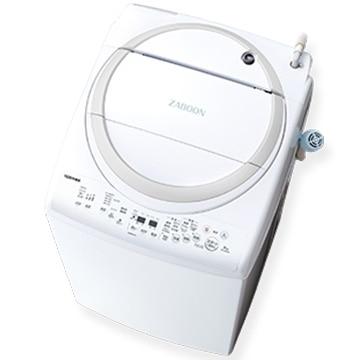 TOSHIBA 縦型洗濯乾燥機 8kg ZABOON グランホワイト【大型商品(設置工事可)】 AW-8V9-W