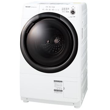 SHARP ドラム式洗濯乾燥機 (洗濯7kg 乾燥3.5kg) ホワイト系 右開き【大型商品(設置工事可)】 ES-S7F-WR