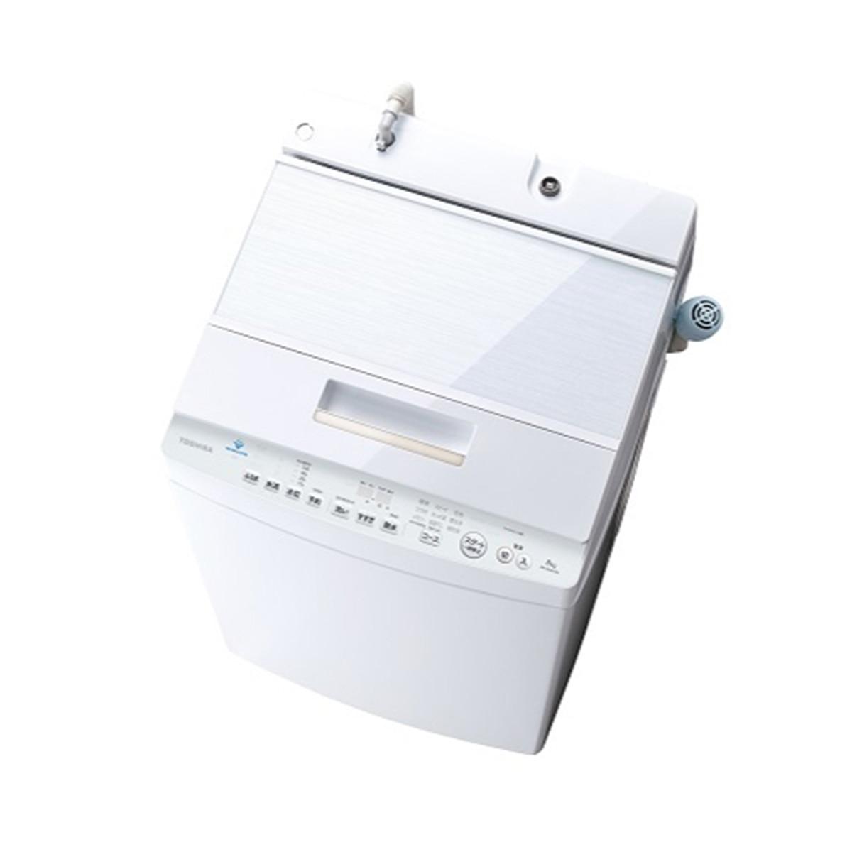 TOSHIBA 全自動洗濯機 8kg ZABOON 抗菌ウルトラファインバブル洗浄 グランホワイト【大型商品(設置工事可)】 AW-8DH1W