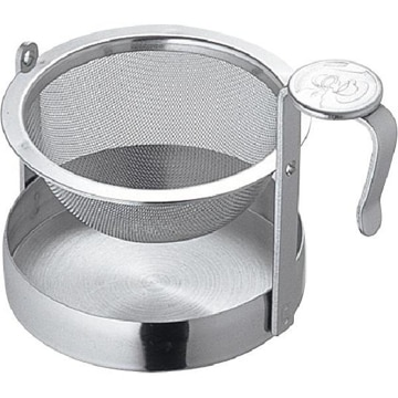 青芳製作所 アミ式回転茶こしL ミラー 010682