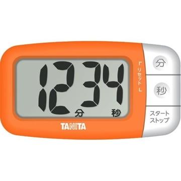 タニタ デジタルタイマー でか見えプラス フレッシュオレンジ TD394OR